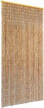 vidaXL Insect Door Curtain Bamboo 90x220 cm - Brown