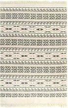 vidaXL Kilim Rug Cotton 160x230cm with Pattern