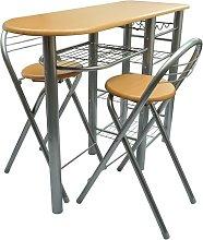 vidaXL Kitchen / Breakfast Bar / Table and Chairs