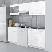 vidaXL Kitchen Cabinet Unit 5 Pieces High Gloss