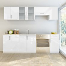 vidaXL Kitchen Cabinet Unit 7 Pieces High Gloss