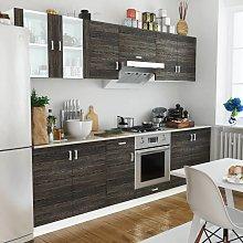 vidaXL Kitchen Cabinet Unit 8 Pieces Wenge Look