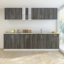 vidaXL Kitchen Cabinet with Sink Base Unit 8