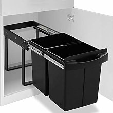 vidaXL Kitchen Cupboard Pull-out Recycled Dustbin
