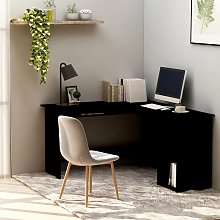 vidaXL L-Shaped Corner Desk Black 120x140x75 cm