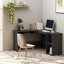 vidaXL L-Shaped Corner Desk Grey 120x140x75 cm