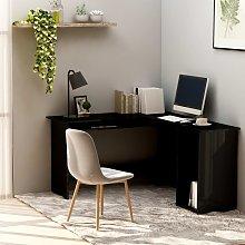 vidaXL L-Shaped Corner Desk High Gloss Black