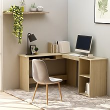 vidaXL L-Shaped Corner Desk Sonoma Oak 120x140x75