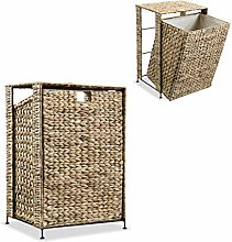 vidaXL Laundry Basket 44x34x64cm Water Hyacinth