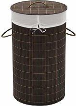 vidaXL Laundry Hamper Basket Bamboo Washing