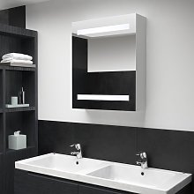 vidaXL LED Bathroom Mirror Cabinet 50x14x60 cm