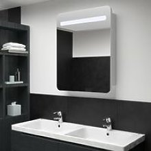 Vidaxl - LED Bathroom Mirror Cabinet 60x11x80 cm