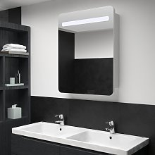 vidaXL LED Bathroom Mirror Cabinet 60x11x80 cm