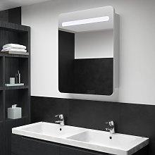 vidaXL LED Bathroom Mirror Cabinet 60x11x80 cm