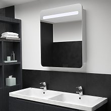 vidaXL LED Bathroom Mirror Cabinet 68x11x80 cm