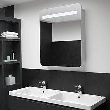vidaXL LED Bathroom Mirror Cabinet 68x9x80 cm