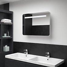 vidaXL LED Bathroom Mirror Cabinet 80x11x55 cm