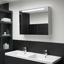 Vidaxl - LED Bathroom Mirror Cabinet 88x13x62 cm