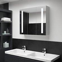 vidaXL LED Bathroom Mirror Cabinet 89x14x62 cm