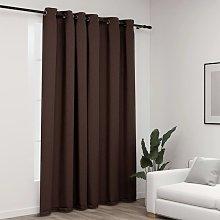vidaXL Linen-Look Blackout Curtain with Grommets