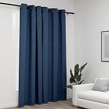 vidaXL Linen-Look Blackout Curtains with Grommets