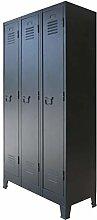 vidaXL Locker Cabinet Metal Industrial Style