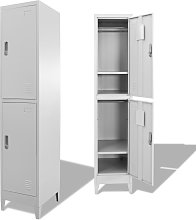 vidaXL Locker Cabinet with 2 Compartments