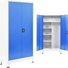 vidaXL Locker Cabinet with 2 Doors Metal 90x40x180