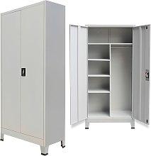 vidaXL Locker Cabinet with 2 Doors Steel