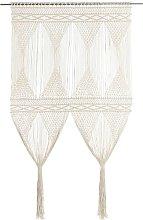 vidaXL Macrame Curtain 140x240 cm Cotton - Cream