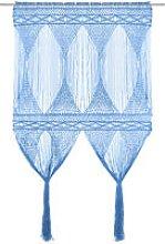 vidaXL Macrame Curtain Blue 140x240 cm Cotton -