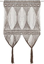 vidaXL Macrame Curtain Taupe 140x240 cm Cotton -