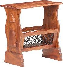 vidaXL Magazine Rack 50x30x53 cm Solid Acacia Wood