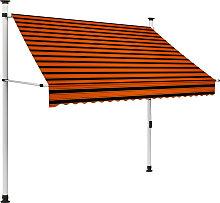 vidaXL Manual Retractable Awning 200 cm Orange and