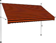 vidaXL Manual Retractable Awning 250 cm Orange and