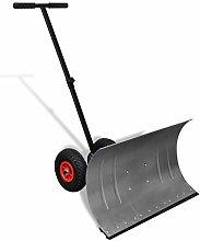 vidaXL Manual Snow Shovel with Wheels Garden Lawn
