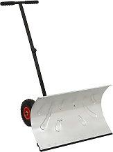 vidaXL Manual Snow Shovel with Wheels