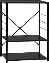 vidaXL Microwave Cabinet Black 60x39.6x79.5 cm