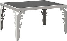 vidaXL Mirrored Coffee Table Stainless Steel and