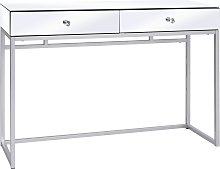 vidaXL Mirrored Console Table Steel and Glass