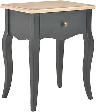 vidaXL Nightstand Black and Brown 40x30x50 cm
