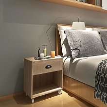 vidaXL Nightstand Brown Solid Wood