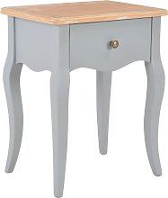 vidaXL Nightstand Grey and Brown 40x30x50 cm Solid