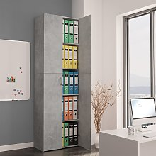 vidaXL Office Cabinet Concrete Grey 60x32x190 cm