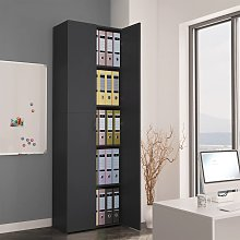 vidaXL Office Cabinet Grey 60x32x190 cm Chipboard