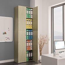 vidaXL Office Cabinet Sonoma Oak 60x32x190 cm