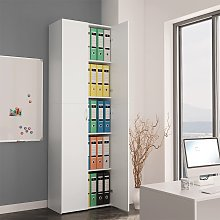 vidaXL Office Cabinet White 60x32x190 cm Chipboard