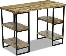 vidaXL Office Desk Mango Wood 110x50x76 cm
