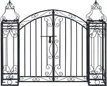vidaXL Ornamental Garden Gate Wrought Iron