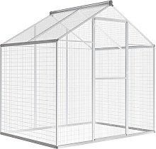 vidaXL Outdoor Aviary Aluminium 178x122x194 cm -
